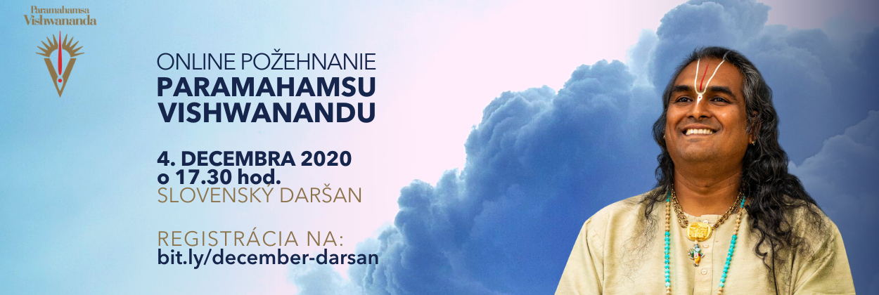 Online darsan pozehnanie december 2020 Paramahamsa Vishwananda