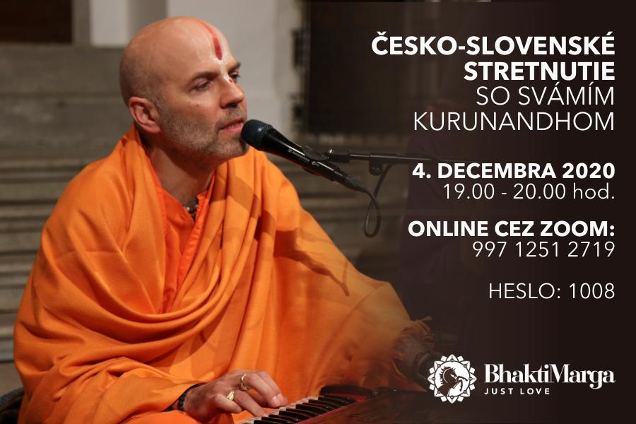 Česko-slovenské stretnutie so svámím Kurunandhom december 2020